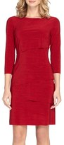 Tahari Women's Ruffle Jersey Sheath Dress
