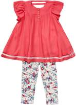 Jessica Simpson Flutter Sleeve Top & Floral Leggings