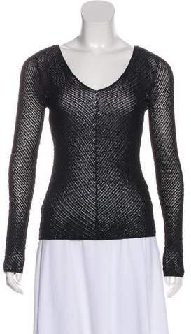 Ralph Lauren Black Label Embellished Long Sleeve Top