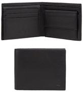 Jeff Banks Black Grained Leather Embossed Logo Wallet