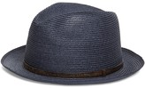 Brooks Brothers Biltmore Straw Hat with Leather Band