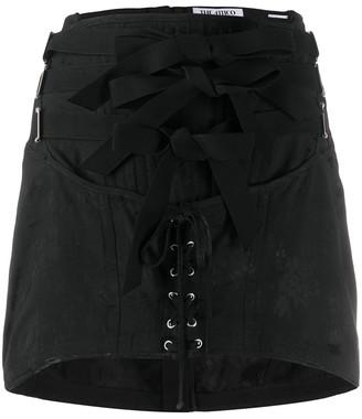 ATTICO Corset Detail Mini Skirt