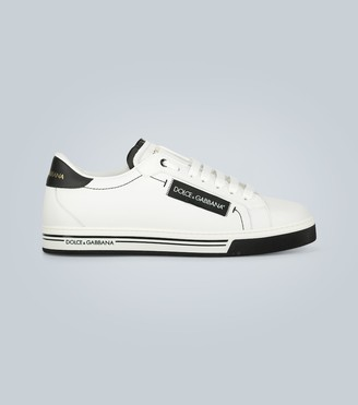Dolce & Gabbana Leather sneakers with logo