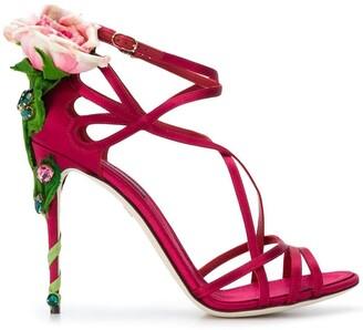 Dolce & Gabbana Keira rose jewelled sandals