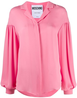 Moschino Long-Sleeve Silk Shirt