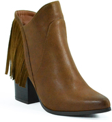 Hot Kiss Cognac Sassy Boot
