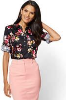 New York & Co. 7th Avenue - Madison Stretch Shirt - Black Floral