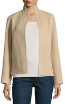 Eileen Fisher Brushed Wool Double-Faced Jacket, Plus Size