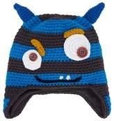 Barts Blue Horned Monster Beanie