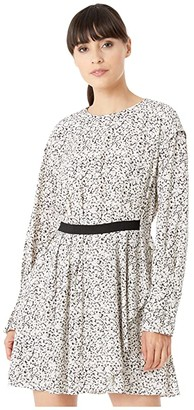 Jason Wu Inverse Floral Long Sleeve Dress (Pearl Multi) Women's Clothing