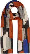 Linea Oversized brush marks scarf