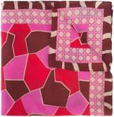 A Peace Treaty geometric print scarf