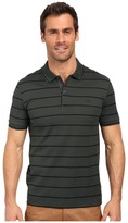 Lacoste Slim Fit Polo in Striped Mercerized Piqué
