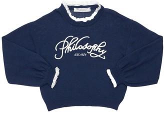 Philosophy di Lorenzo Serafini Viscose Blend Knit Sweater