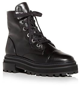 Schutz Women's Maylova Block Heel Platform Combat Boots