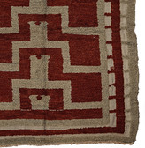 Rejuvenation Deep Pile Turkish Konya Rug w/ Red Gray and White