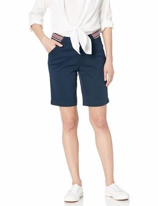 Jag Jeans Women's Petite Gracie Pull on Convertible Short w/Sport Stripe