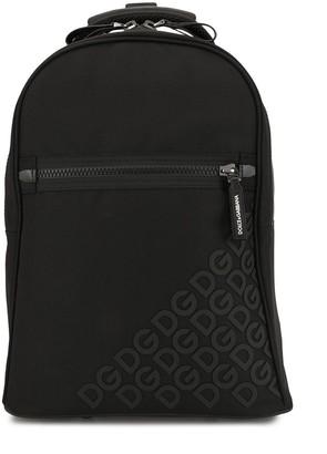 Dolce & Gabbana Kids Cordura nylon wheelie bag