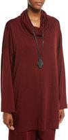 eskandar Ebony Cross Pendant on Leather Necklace