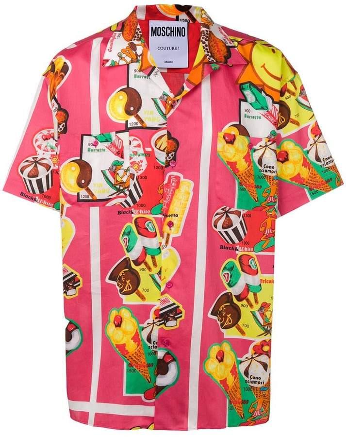 Moschino ice cream print shirt