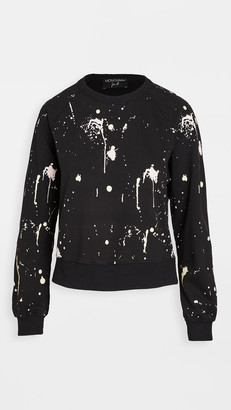Monogram Splatter Paint Sweatshirt