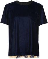 Sacai plissé pleated T-shirt