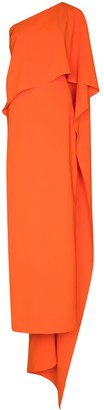 Carolina Herrera One Shoulder Maxi Dress