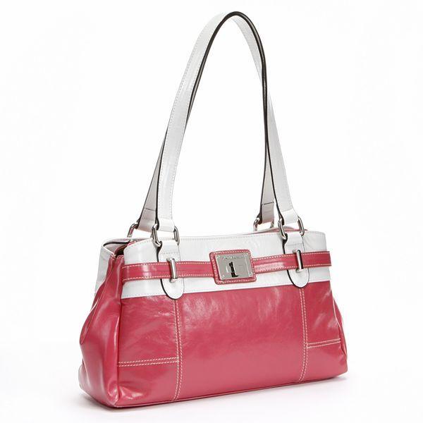 Croft & barrow® swagger glazed leather satchel