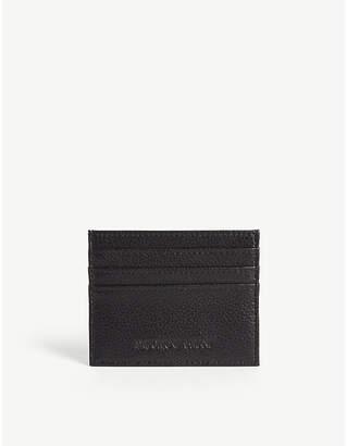Emporio Armani Grained leather cardholder