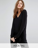 ASOS Tall ASOS TALL The New Forever T-Shirt With Long Sleeves And Dip Back