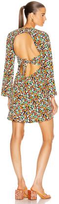 Rixo Sophie Dress in Retro Micro Floral | FWRD