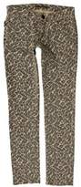 Zadig & Voltaire Printed Low-Rise Jeans