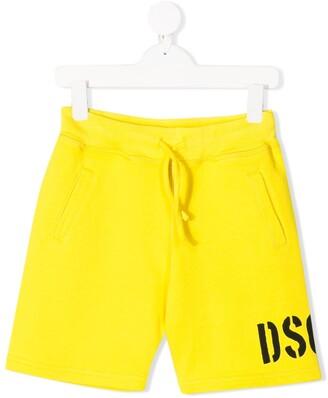 DSQUARED2 Logo-Printed Track Shorts