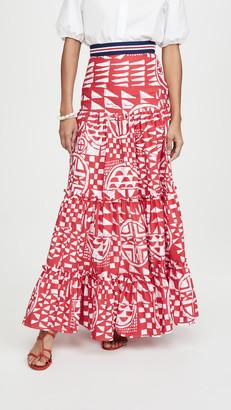 Stella Jean Popeline Bicolore Skirt