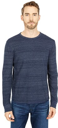 Lucky Brand Space Dye Thermal Crew (Navy) Men's Clothing