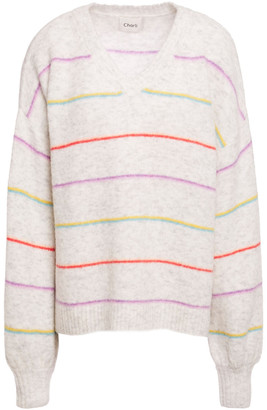 Charli Abree Two-tone Brushed-knitted Sweater
