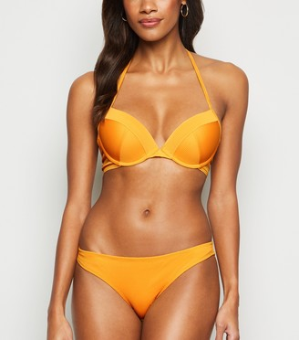 New Look Ribbed Plunge Underwired Bikini Top