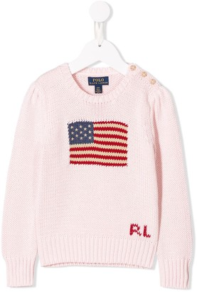 Ralph Lauren Kids Flag Knit Sweater