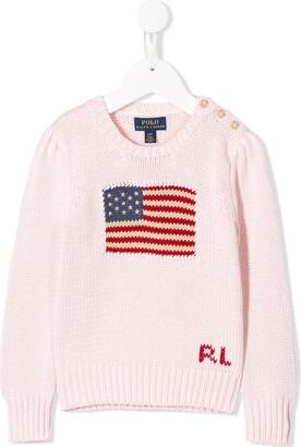 Ralph Lauren Kids flag knit sweater