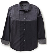 Bugatchi Long-Sleeve Engineered Plaid Woven Shirt