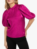 Monsoon Cassidy Crinkle Blouse, Pink
