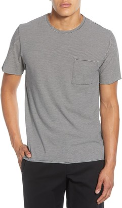 Vince Feeder Stripe Pocket T-Shirt