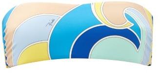 Emilio Pucci Quirimbas-print Bandeau Bikini Top - Blue Multi