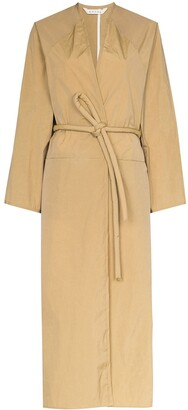 Kassl Editions Wrap Front Trench Coat