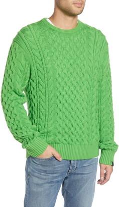 Rag & Bone Aran Classic Fit Crewneck Wool Blend Sweater