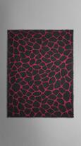 Burberry Animal Print Cashmere Silk Scarf