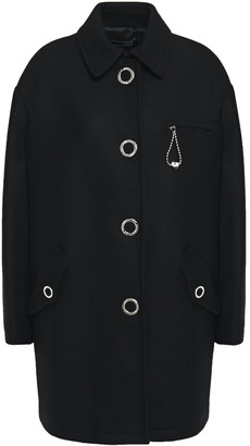 Love Moschino Snap-detailed Wool-blend Twill Coat