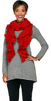 Collection XIIX Collection 18 Lurex Ruffled Knit Scarfwith Gift Box