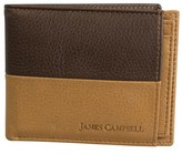 James Campbell Men's Leather Passcase Wallet - Brown