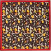 Simon Carter Bird Print Pocket Square